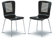Pair of Kelso Black Dining Chairs